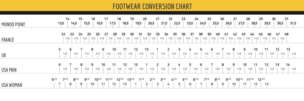 LA SPORTIVA SIZE CHART - FOOTWEAR